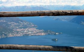 Maggiore Lake, Verbania from the top of Mottarone