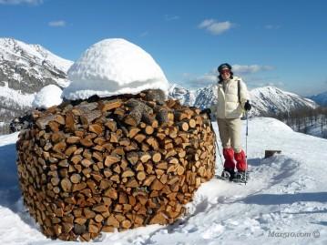 l'originale catasta di legna al Gattascosa