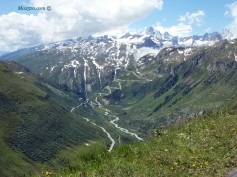 Switzerland - panorama from Furka Pass