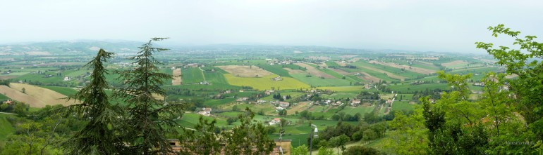 Panorama dal Colle dell'Infinito