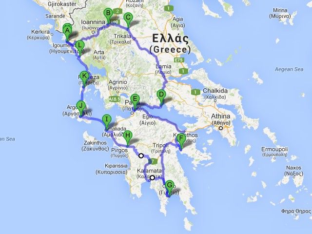 percorso Grecia